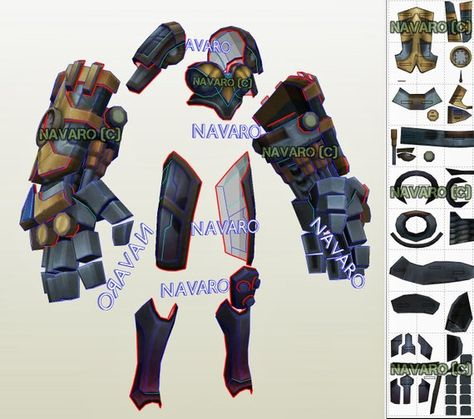 Vi Classic Armor Template - Eva Foam Template -  Printable PDF / Pepakura - Vi Cosplay - LOL Cosplay