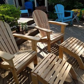 Adirondack Chairs With Leg Rests By Dennis Yager Adirondack Chairs Chair Leg Rest