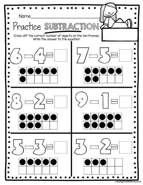 Subtraction Kindergarten Worksheets Ten Frame Subtraction Kindergar Math Subtraction Kindergarten Subtraction Worksheets Addition And Subtraction Worksheets