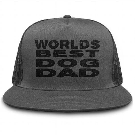 dc135767b9f Worlds Best Dog Dad Hat Dogs Hats - Buy Personalised Classic Trucker ...