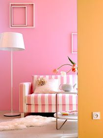Decorating With Pink and Orange | Pink room, Pink walls ...