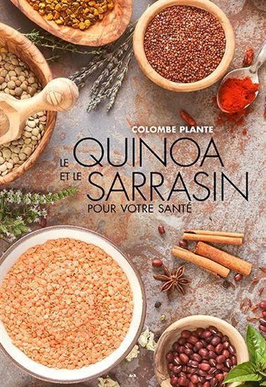 Dans Le quinoa et le sarrasin pour votre santé, Colombe Plante rend hommage au quinoa et au sarrasin à travers de nouvelles recettes simples et savoureuses, sans gluten, sans produits laitiers et sans oeufs. Vous découvrirez dans ce livre, une suite de Cuisine santé sans gluten, des recettes équilibrées, à haute valeur nutritive : boissons de quinoa ou de sarrasin, fromage de noix, yogourt, smoothies, salades et vinaigrettes, craquelins déshydratés et pain, soupe, mets principaux…