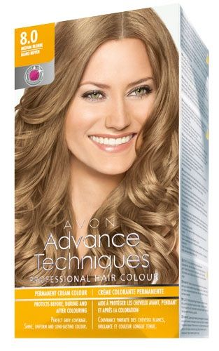 Avon Advance Techniques Sac Boyasi 8 0 Koyu Sari Sac Boyasi
