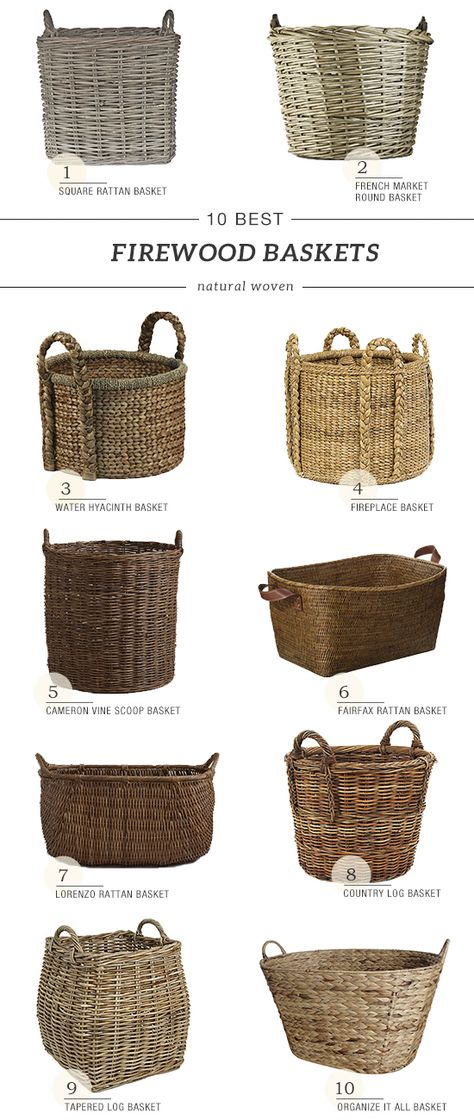 10 Best Woven Baskets For Firewood Fireplace Baskets Basket Weaving Basket