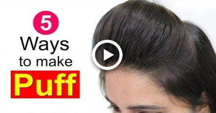 5 Easy Puff Hairstyles How To Make Perfect Puff Hairstyle Quick Hairstyles For Medium Easy Hairstyle Hairsty Hair Puff Medium Thin Hair Fast Hairstyles