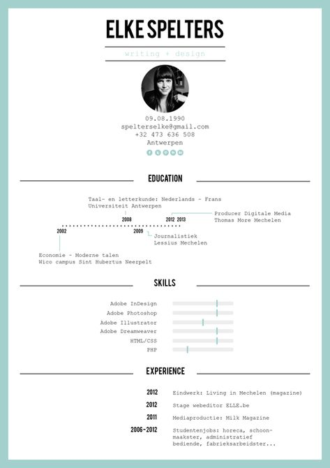 47 best CV Créa images on Pinterest Resume ideas, Cv design and - popular resume styles