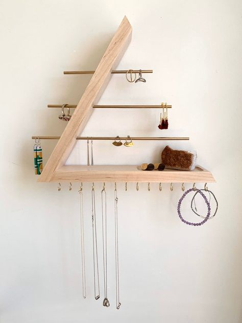 Wall Organization, Jewelry Organization, Jewellery Storage, Jewellery Display, Diy Jewelry Organizer Wall, Necklace Storage, Jewelry Wall, Jewelry Hanger, Diy Jewelry Holder Wood