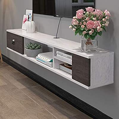 Wall Shelf Floating Tv, Cable Box Storage Cabinet