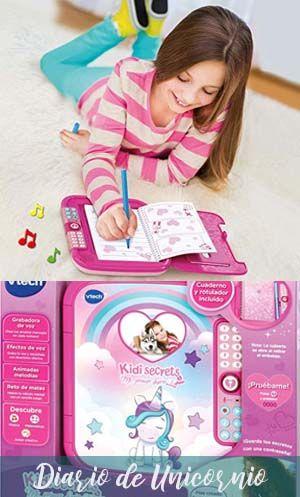 Diario Para Niñas Eléctronico De Unicornio Electrónica Compartimento Secreto Juegos Con Numeros