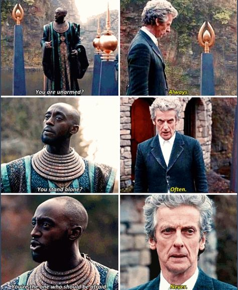 You will not leave this planet alive.// Do me a favour. The Fatality Index. Look up The Doctor.// RAFANDO: You have an entry, just like any other sentient being. Doctor Who 12, Doctor Who Tumblr, I Am The Doctor, Twelfth Doctor, Doctor Who Quotes, Don't Blink, Peter Capaldi, Torchwood, Geronimo