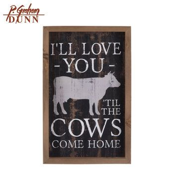 Love You Til The Cow Come Home Wood Decor Cow Decor Cow Kitchen Decor Cow Wall Decor