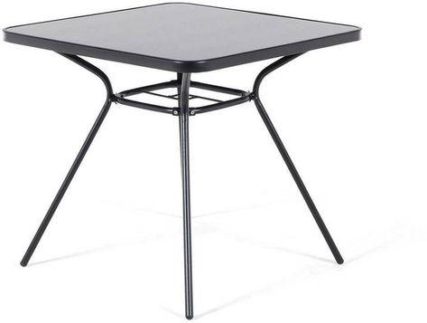Gartentisch Stahl Schwarz 80 X 80 Cm Livo Outdoor Tables Table