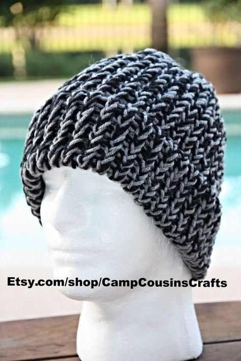 29f0af7aa1e Black knit hat