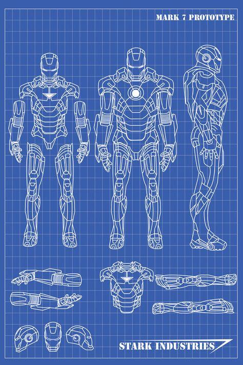 Iron Man Helmet Blueprint : helmet, blueprint, Ironman, Armor, Blueprints, Ideas, Suit,