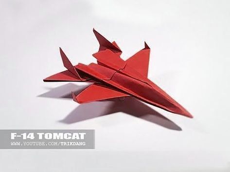 Como Hacer Un Avion De Pape Model F 14 Youtube Origami Paper Art Origami Crafts Origami Toys
