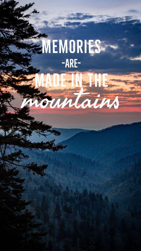 Memories are made in the mountains. #smokymountains #gsmnp