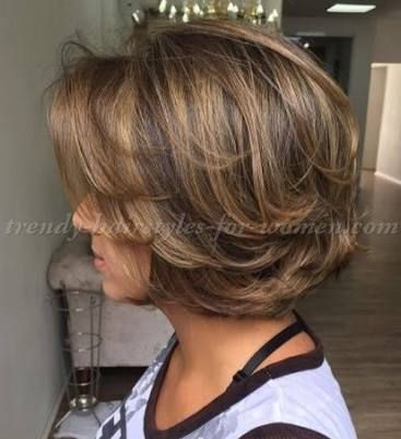 Image Result For Hair Styles Med To Long Hair For Women Over 50 With Glasses Roun Short Hair With Layers Short Hairstyles For Thick Hair Haircut For Thick Hair
