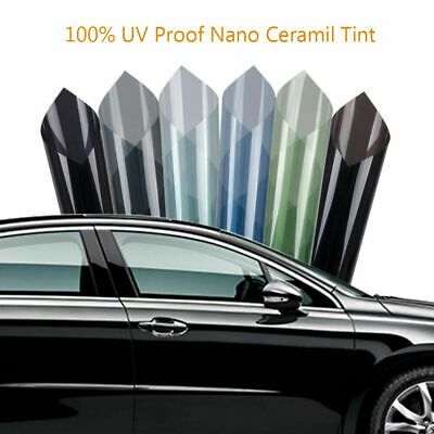 Vlt 5 70 Car Tint Car Glass Tinting 100 Uv Proof Nano Ceramic Film 50x200 Cm Tinted Windows Window Tint Film Stained Glass Window Film