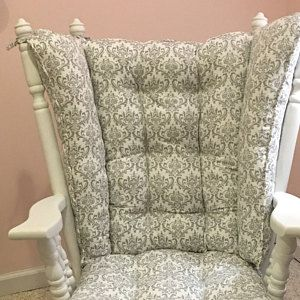 Wingback Rocker 4 Post Glider Cushions