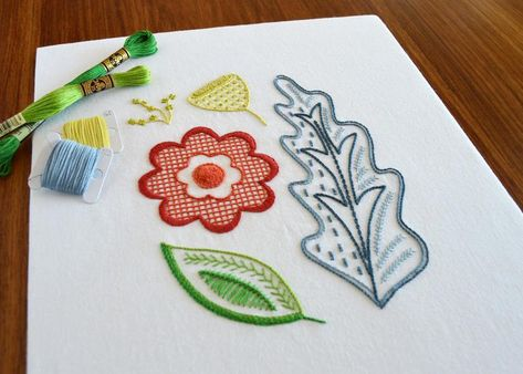 Oakenfold hand embroidery pattern, a modern crewel embroidery pattern PDF