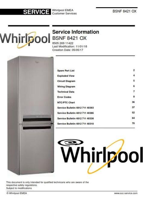 40 whirlpool refrigerators  freezers service manuals ideas