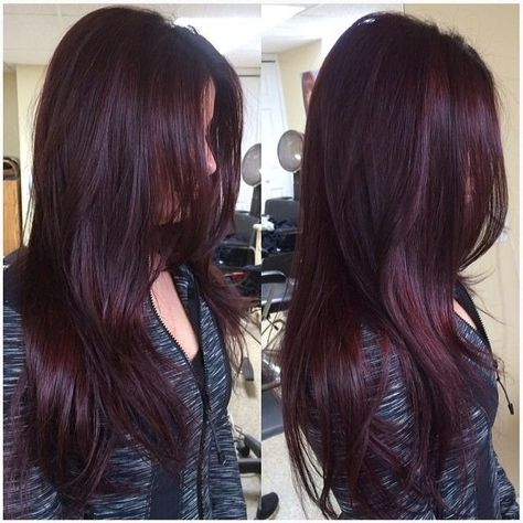 Trend Haarfarbe Rot 2020 Dunkle Kirsche Haar Farbe 2018