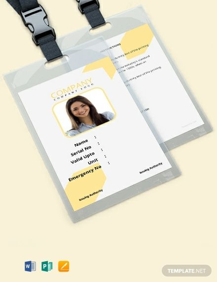 Free Simple Blank Id Card Template Word Doc Apple Mac Pages Publisher Id Card Template Free Business Card Templates Card Templates Free