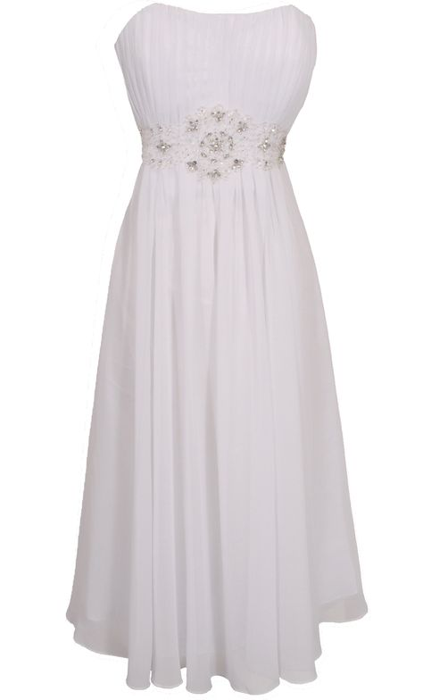 Strapless Chiffon Goddess Gown Prom Dress Formal KneeLength Junior Plus Size | Holiday Dresses