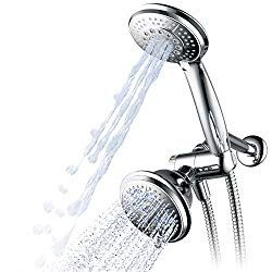 Hydroluxe Full Chrome 24 Function Ultra Luxury 3 Way 2 In 1 Shower