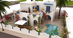 Plan Maison Tunisienne 3d Plan Maison Maison Djerba
