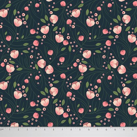 "Cotton Fabric 45/""Inches Floral Pattern Crafting Dressmaking Sewing By The Metre"