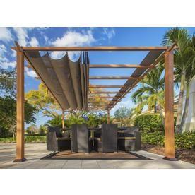 Paragon Outdoor Canadian Cedar Wood Cocoa Metal Gazebo 11 6 W X 7 9 H X 16 7 D At Lowes Com With Images Outdoor Pergola Aluminum Pergola Backyard Pergola