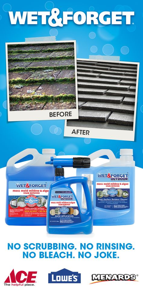 Easily Clean Virtually Any Exterior Surface Without Any Scrubbing Rinsing Or Bleach Wet Forget Cleans Green And Bla Simply Spray Outdoor Cleaning Cleaning