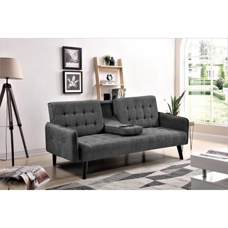 Us Pride Furniture Hash Sofa Bed Dark Gray Walmart Com In 2020 Sofas For Small Spaces Contemporary Couches Furniture