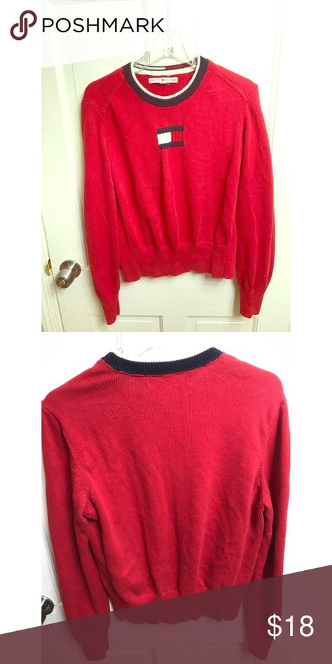 cozy Classic Tommy Hilfiger Red...