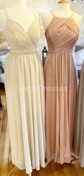 Spaghetti Straps Cheap Long Bridesmaid Dresses Online, Bridesmaids Dresses, WG718