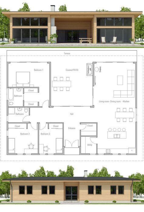 Modular Home Plan Three Bedroom House Plan Floor Plan Prefab House Plan Modular Home Plans Craftsman House Plans New House Plans