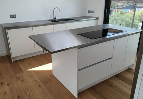 Made To Measure Stainless Steel Worktop And Island Worktop