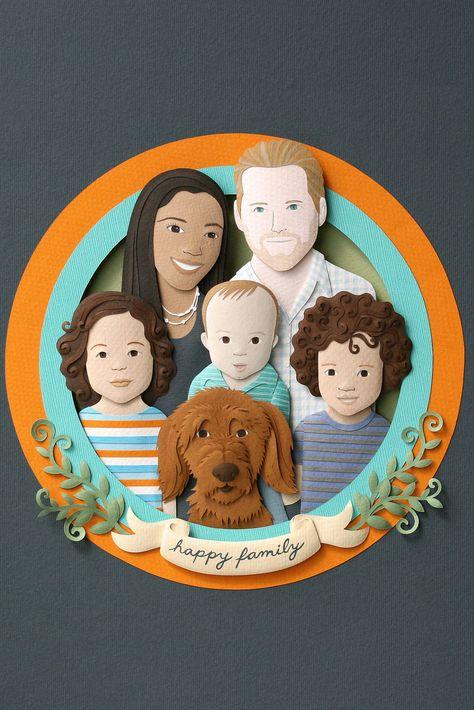 Custom Paper Family Portrait