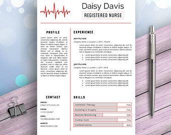 Nurse Resume Cv Template Registered Nurse Cv Nursing Resume Etsy In 2020 Nursing Resume Medical Resume Nursing Resume Template