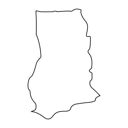 Map Of Ghana Outline Silhouette Of Ghana Map Vector Illustration Map Vector Vector Illustration Map Outline