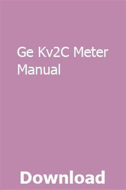 Ge Kv2C Meter Manual   desrespsefa   Bmw x5, Utility tractor ... Ge Kv C Meter Wiring Diagram on