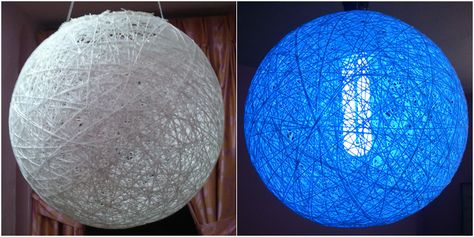 Albin's blog  –  Make your own colourful homemade thread ball lamp – DIY