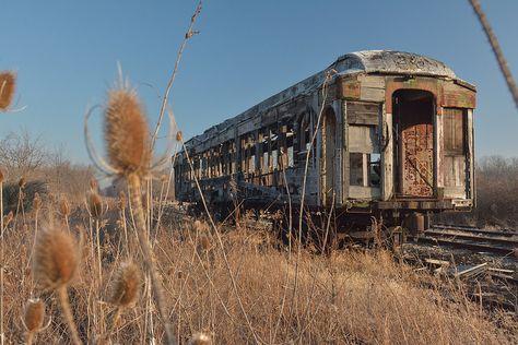 Abandoned passenger car in rural Ohio.