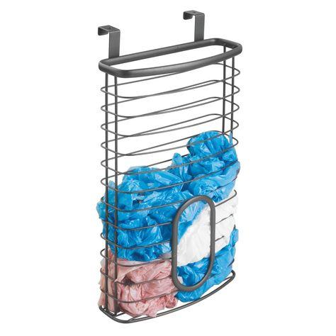 Wire Over Cabinet Door Trash Plastic Bag Holder Rack Plastic Bag