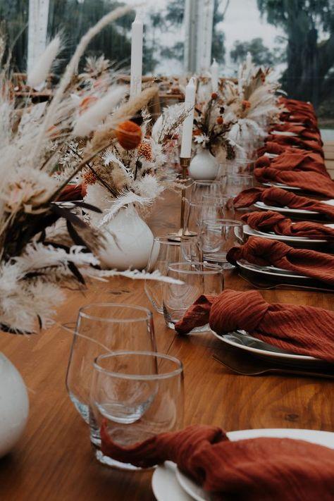 Wedding Reception Tables, Wedding Table Settings, Autumn Wedding, Rustic Wedding, Thanksgiving Wedding, Eclectic Wedding, Floral Wedding, Wedding Colors, Trendy Wedding