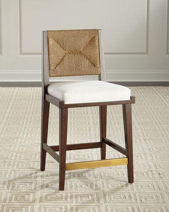 Remarkable Palecek Gabby Upholstered And Jute Counter Stool Furniture Beatyapartments Chair Design Images Beatyapartmentscom