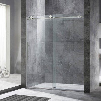 Woodbridge Single Sliding Frameless Shower Door Finish Chrome
