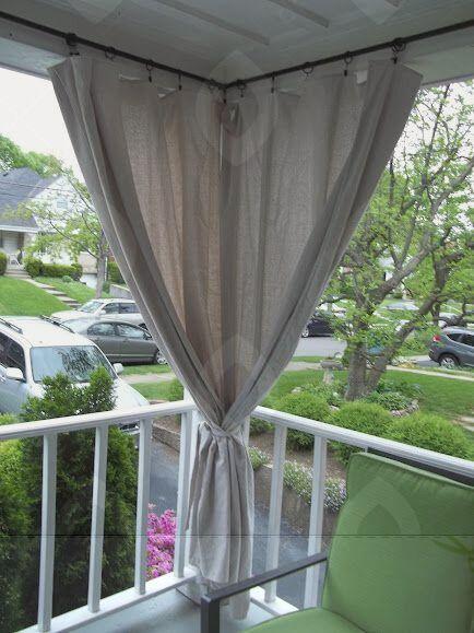 17 Fabulous Drop Cloth Curtains Ikea Ideas Outdoor Curtains Balcony Decor Apartment Patio
