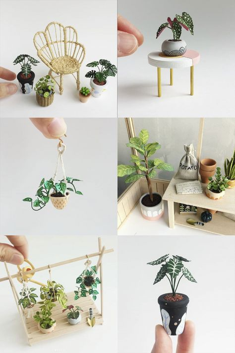 Discover recipes, home ideas, style inspiration and other ideas to try. Doll House Crafts, Doll Crafts, Clay Crafts, Mini Craft, Craft Stick Crafts, Diy And Crafts, Victorian Dollhouse, Diy Dollhouse, Dollhouse Miniature Tutorials